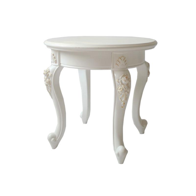 Geschnitzter runder Tisch
